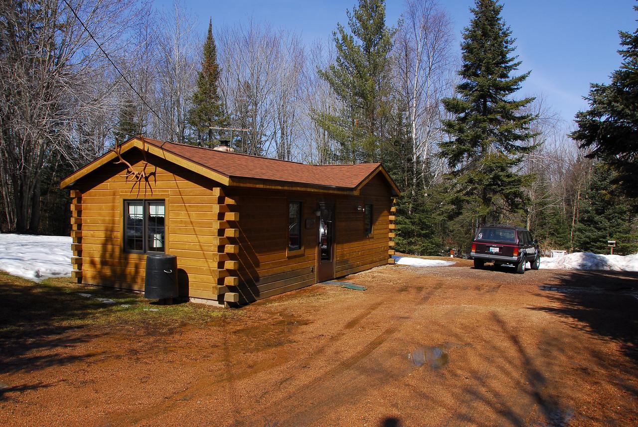 Log house in Antigo, Wisconsin
