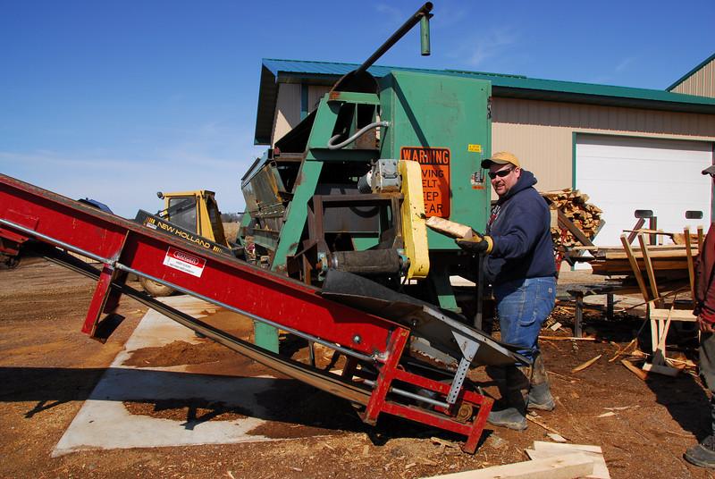 Lumber shop in Antigo, Wisconsin
