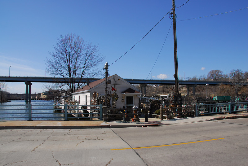 Port near Fox River in Appleton, Wisconsin