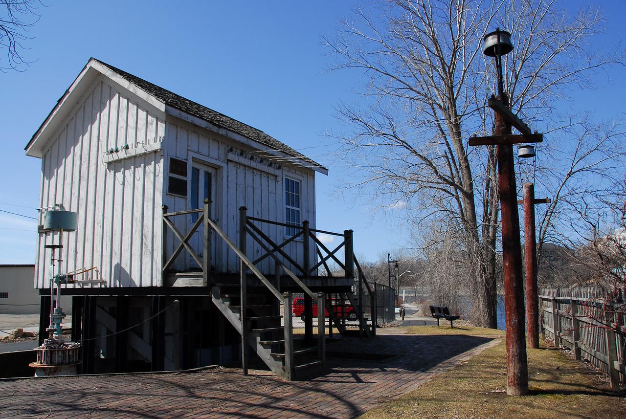 Guard house near the Fox River in Appleton, Wisconsin