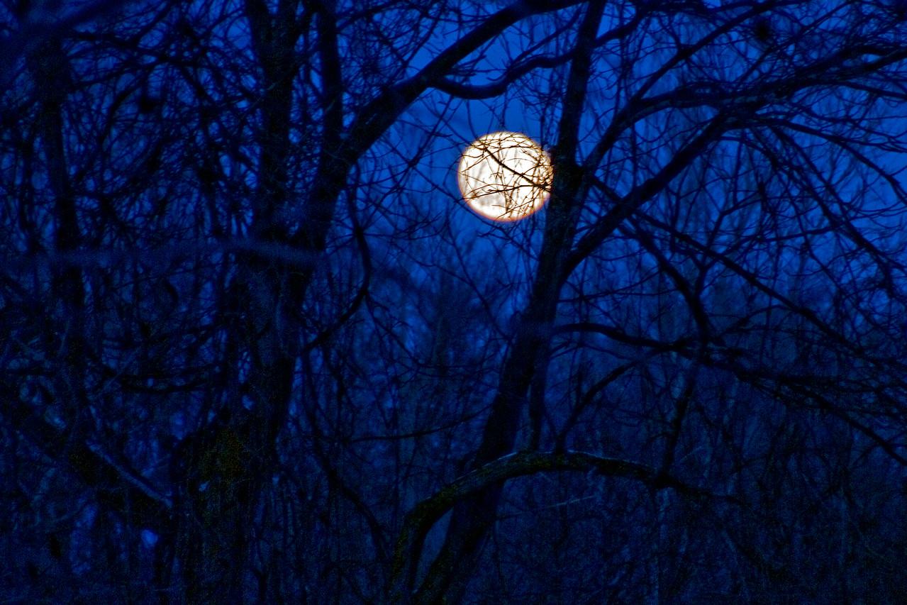 Full moon over Appleton in Wisconsin
