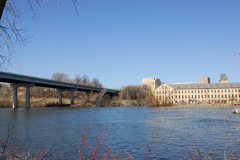 Wisconsin Route 47 Bridge in Fox River, Appleton, Wisconsin