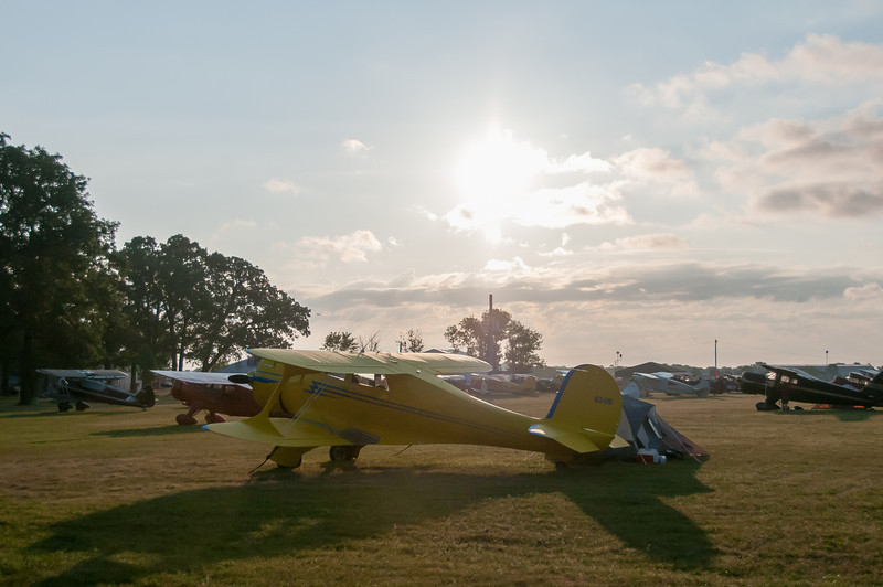 Aircraft on land at the EAA Show in Wisconsin