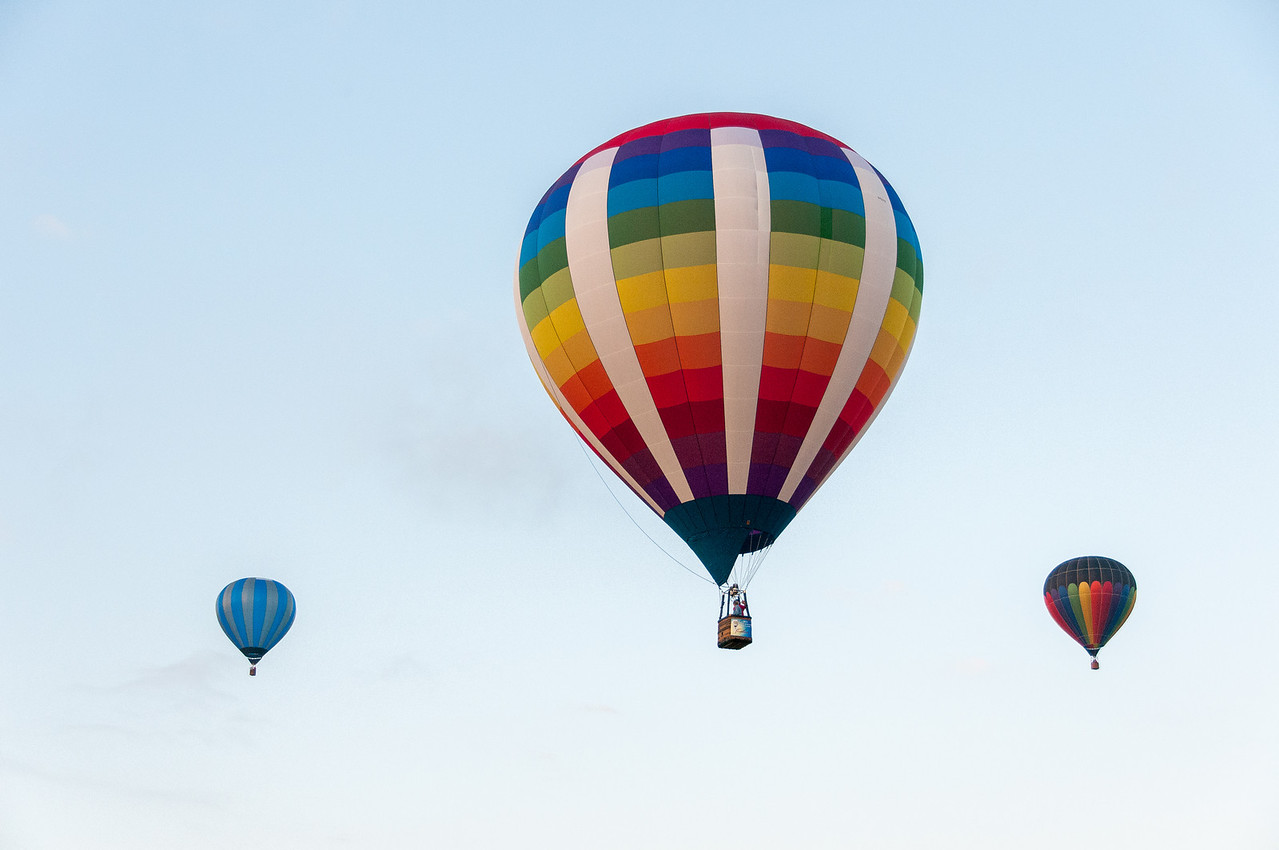 Hot air balloon at the EAA Show 2012 in Wisconsin