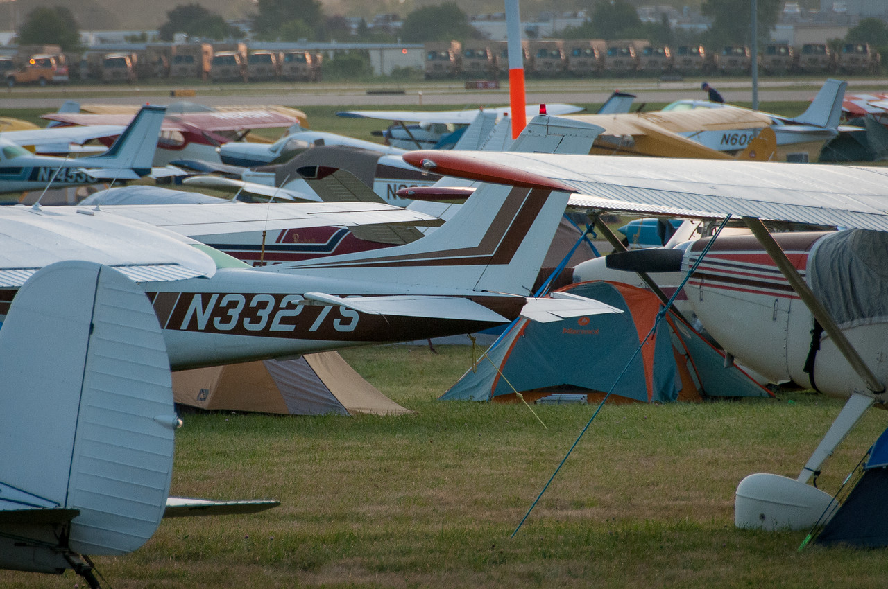 Aircraft at the EAA Show 2012 in Wisconsin