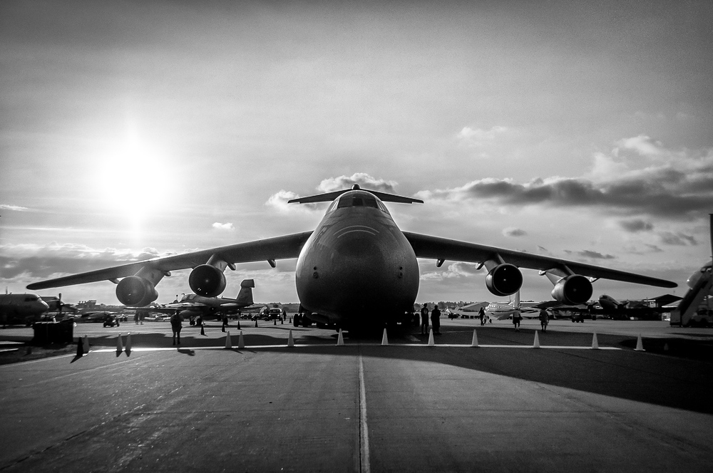 C-5 Galaxy Transport Plane at the Experimental Aviation Association Show, Oshkosh, Wisconsin