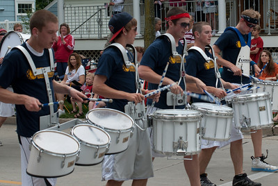 Drummers at the Appleton Flag Day Parade in Wisconsin