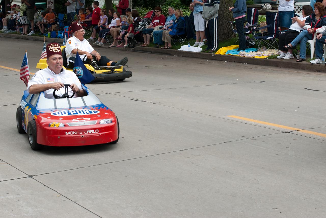 Mini cars at the Appleton Flag Day Parade, Wisconsin