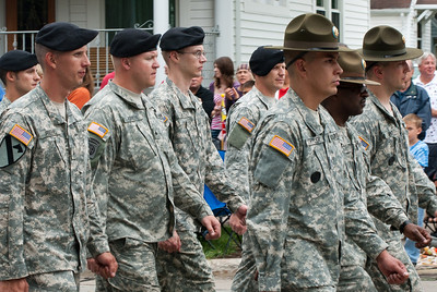 US soldiers at the Appleton Flag Day Parade in Wisconsin