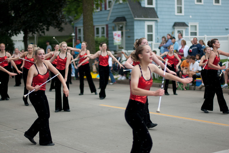 Majorettes at the Appleton Flag Day Parade, Wisconsin