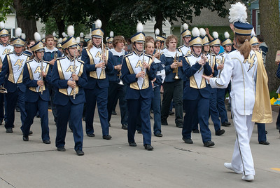 Marching band at Appleton's Flag Day Parade, Wisconsin