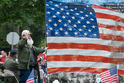 US flag at Appleton Flag Day Parade, Wisconsin