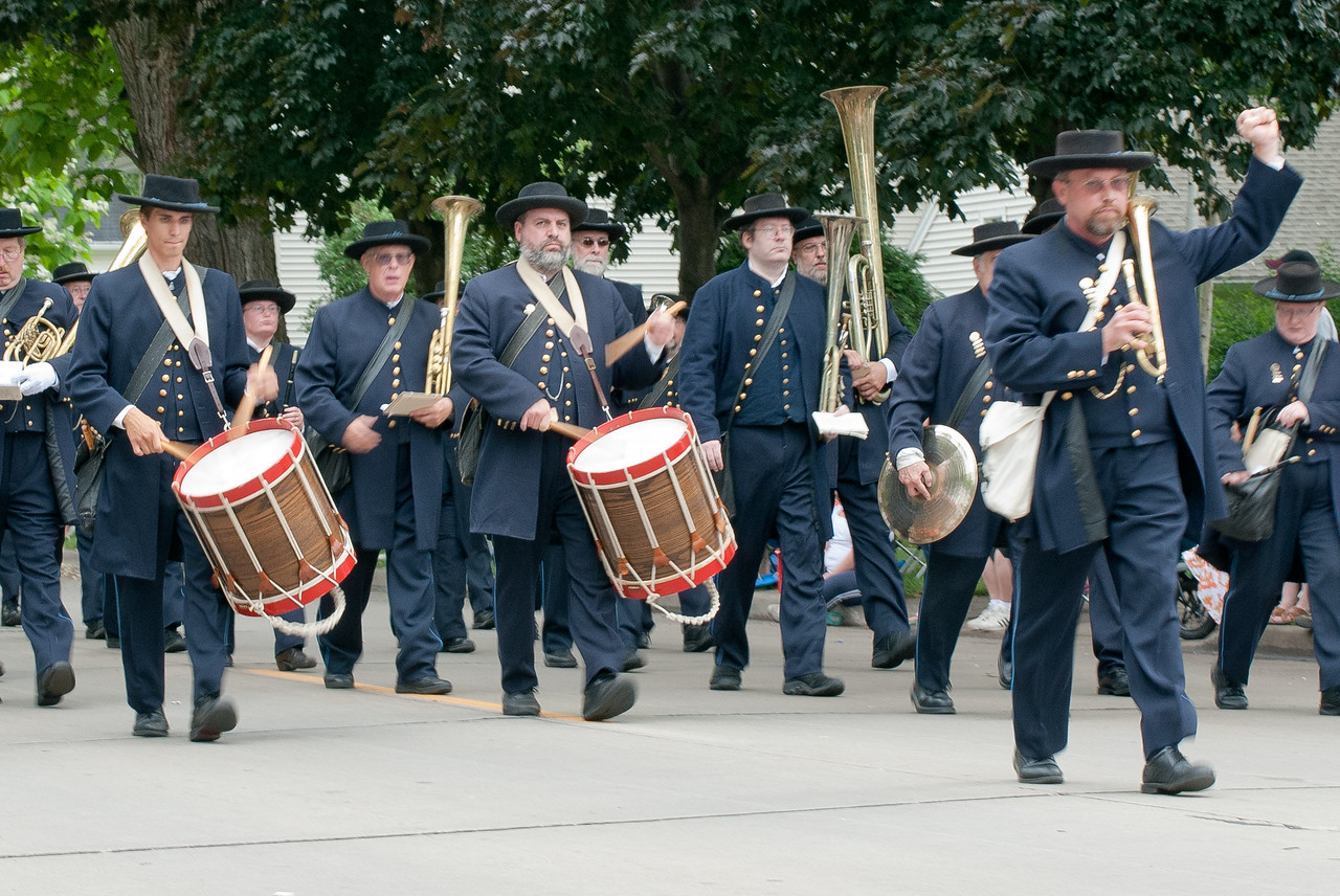 Marching band at the Appleton Flag Day Parade in Wisconsin
