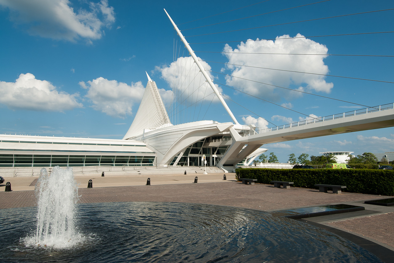 Fountain near Milwaukee Art Museum in Milwaukee, Wisconsin
