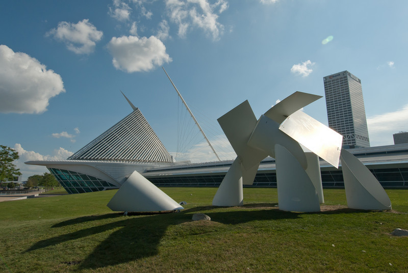 Art installation outside Milwaukee Art Museum, Wisconsin