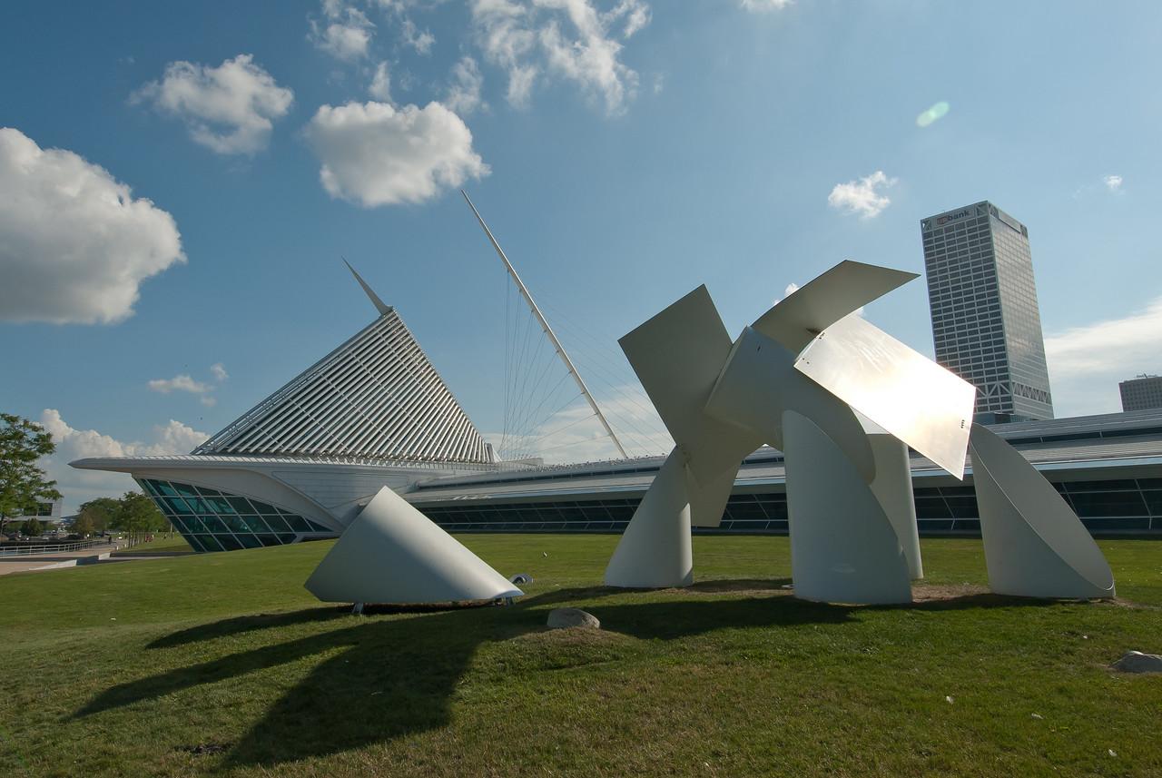 Art installation outside Milwaukee Art Museum, Wisconsin