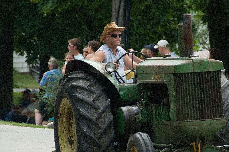 Tractor in a parade in Stephensville, Wisconsin