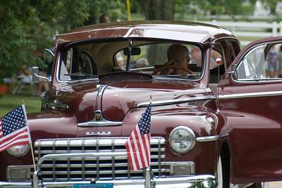 Vintage car at Stephensville Parade, Wisconsin