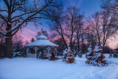 Milwaukee, Wisconsin A snow covered gazebo in the Greendale suburb.