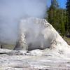 Geyser formation Yellowstone