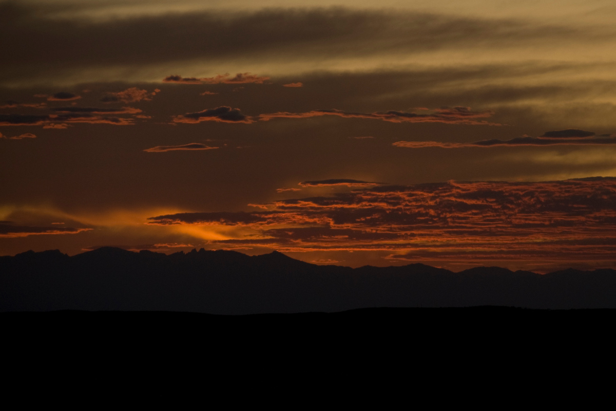 Sunset over the Bighorn Mountains