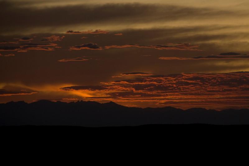 Sunset at Bighorn Mountains, Wyoming