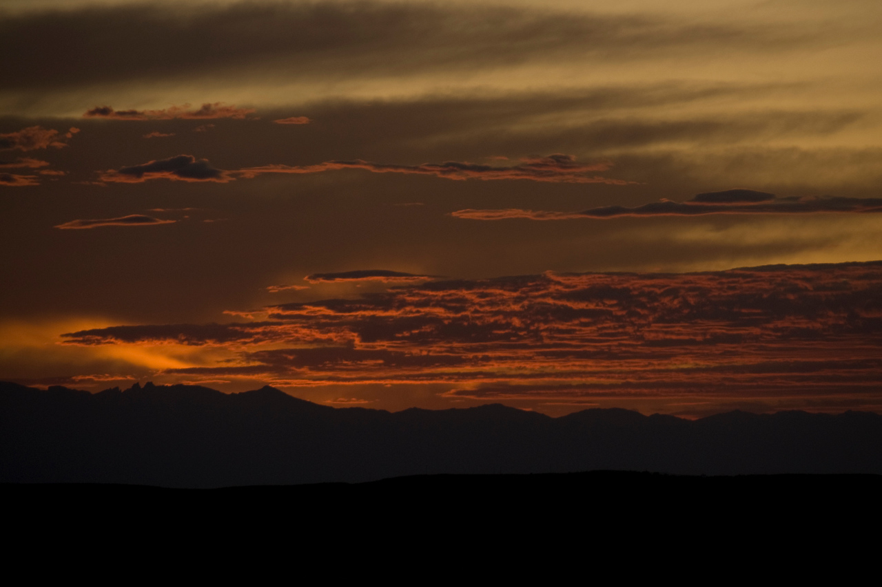 Sunset at Bighorn Mountains, Wyoming
