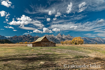 T. A. Moulton Barn, Grand Teton, National Park (color)