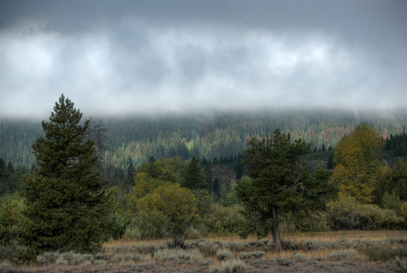 Mist above Grand Teton National Park in Wyoming