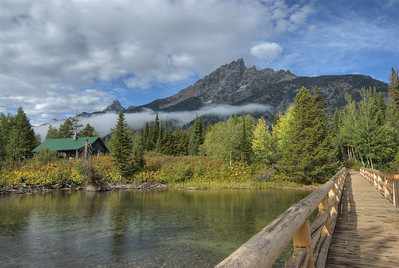 Autumn Bridges in Grand Teton National Park, Wyoming