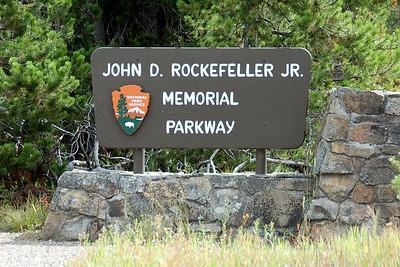 John D. Rockefeller Jr. Memorial Parkway near Grand Teton National Park in Wyoming