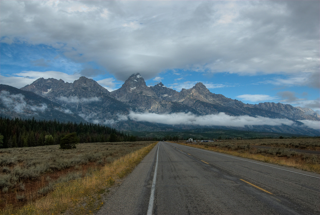 Teton Park Road at Grand Teton National Park, Wyoming