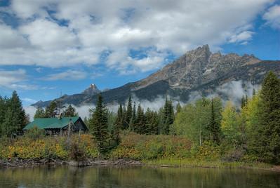 Teton Range in Grand Teton National Park in Wyoming