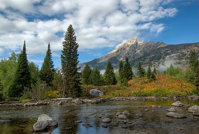 Teton Range at Grand Teton National Park in Wyoming