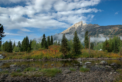 The Teton Range in Grand Teton National Park, Wyoming