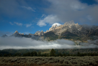 The Teton Range at Grand Teton National Park, Wyoming