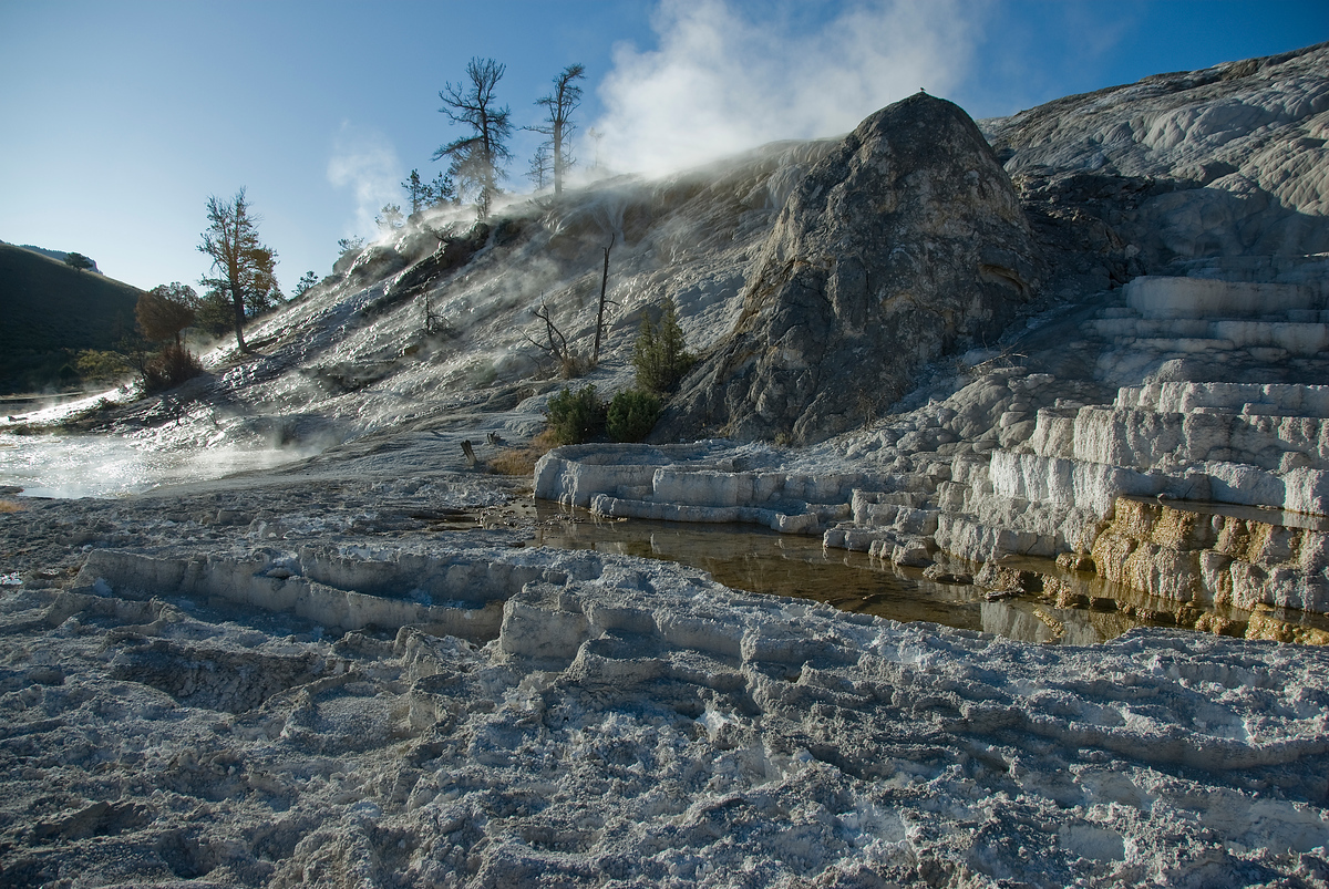 Mammoth Springs, Yellowstone National Park, Wyoming