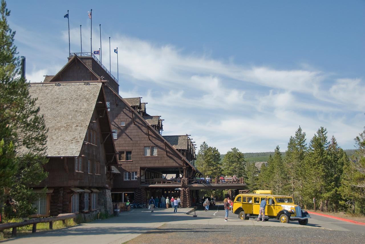 Old Faithful Inn at Yellowstone National Park