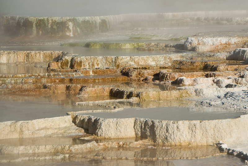 Mammoth Hot Springs, Yellowstone National Park - Wyoming
