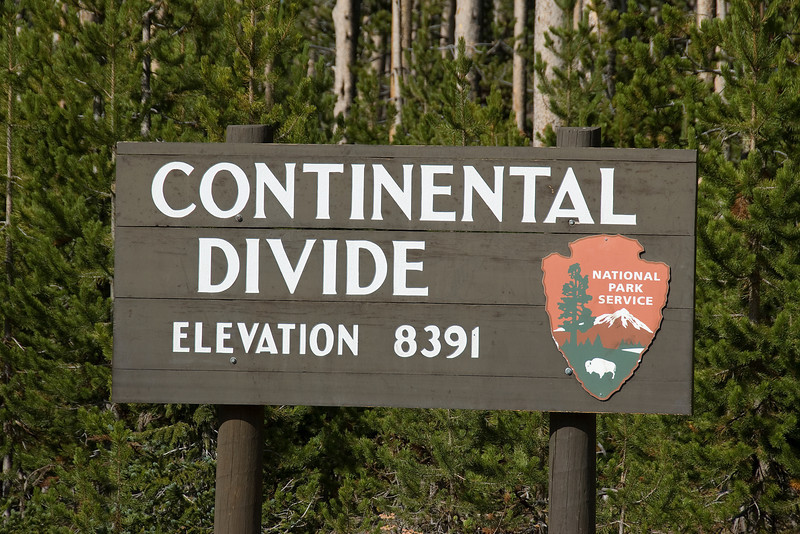 Continental Divide at Yellowstone National Park