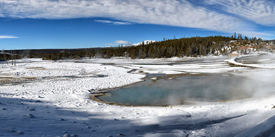 A panoramic view of Norris Basin