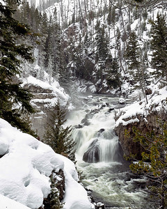 Firehole falls along the Madison