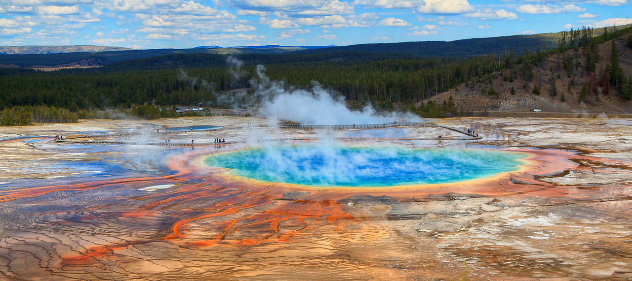 Grand Prismatic Spring Geyser, Yellowstone Pls see in original size to appreciate its beauty.