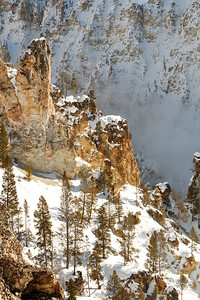 Another view looking down into the grand canyon of the yellowstone.  It's a long way down.  Don't slip!!