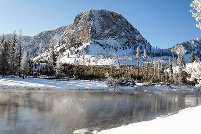 Winter view of the Madison river