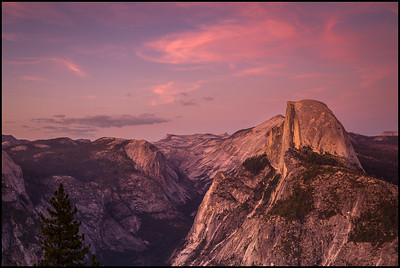 View from Glacier Point at sunset