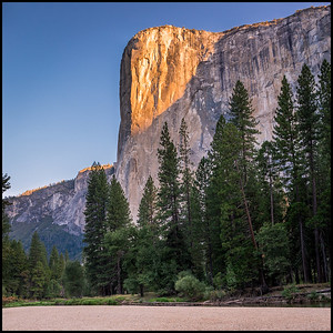 First light on El Capitan, at Cathedral Beach