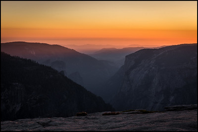 Sunset from the summit of Half Dome