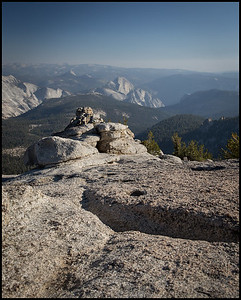 View of Half Dome from Mt Hoffman