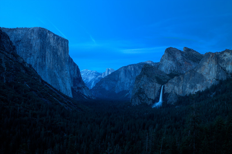 Valley View under moonlight